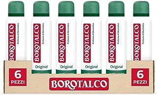 Borotalco, Deodorante Spray Original con Microtalco, Assorbe il Sudore, Senza Alcool, Pelle Asciutta e Protetta, Profumo F...