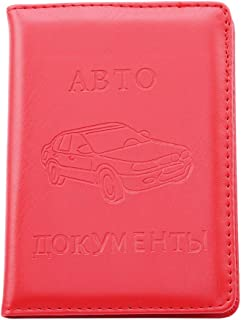 Iumer Two fold Driving License Wallet Unisex PU Leather Russian Auto Card Document Organizer