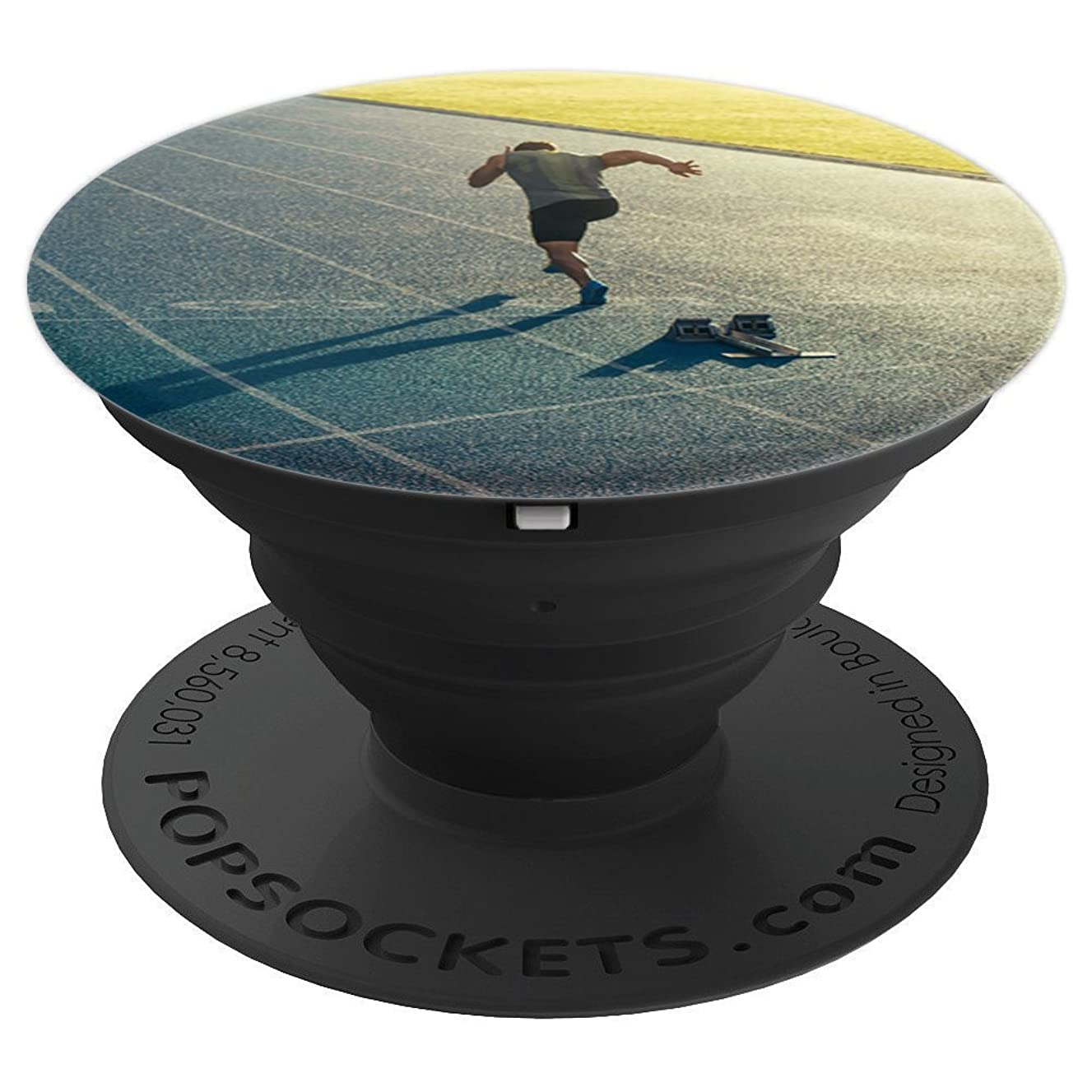 Man Men's Runner Sprinting Sprinter Track and Field Gift - PopSockets Grip and Stand for Phones and Tablets