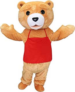 Teddy Bear Ted Adult Mascot Costume Cosplay Fancy Dress Outfit