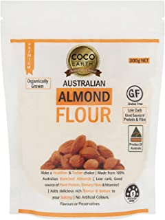 COCO EARTH Australian Almond Flour 300g | Low carb, Keto, Paleo, Gluten Free, 300 g