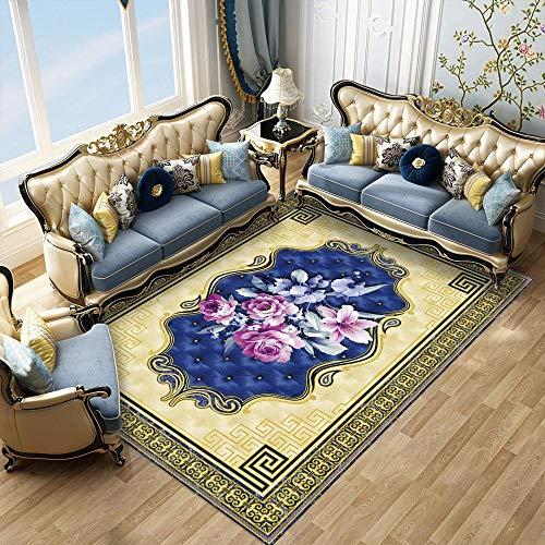 Innenteppichewohnzimmer Teppich Studie Esszimmer Garderobe Badezimmer Nachttisch Fußmatte Fußmatten Verdickte Fußmatte Teppiche Pelz Teppich-9_60X90Cm