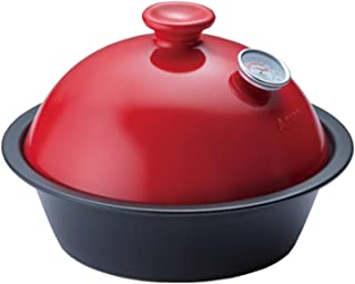 BE-TACKLE 【すぐに使えるスモーカーセットです!】薫製鍋 SMOKE POT Coro (収納ケース付) 椿 & チップサクラ4袋セット(温度計付!)