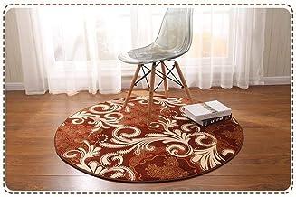 Coral Velvet Carpet Living Room & Bedroom Multifunction Round Rugs Bath Mat Washable Soft mat (Size : 100 * 100cm)