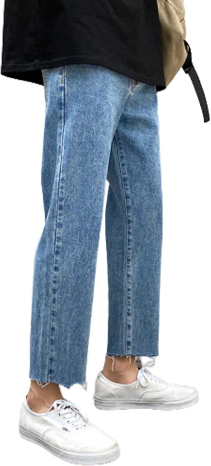 Wantess Men's Max 40% OFF Selling and selling Jeans Lightweight Breathable Regular-fit Straight