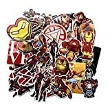 ZJJHX Nuevo Iron Man Graffiti Sticker Avengers Anime Trolley Case Refrigerador Personalidad del Coche Etiqueta Impermeable 55 Hojas