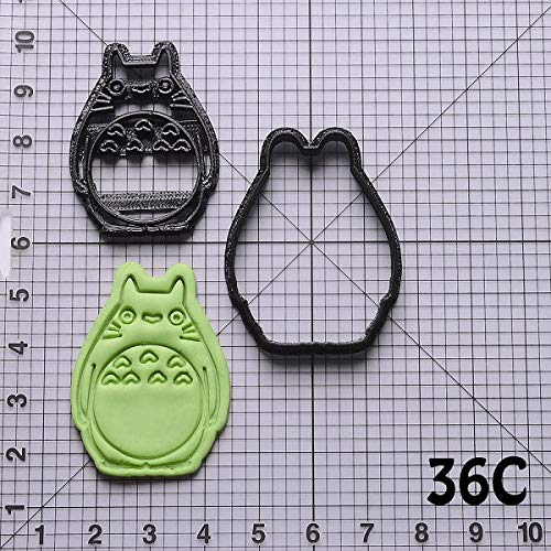 Biscuit Cutter set - cute cartoon totoro design shape cookie cutter set custom made 3d printed biscuit mould fondant cupcake tools cake baking mould