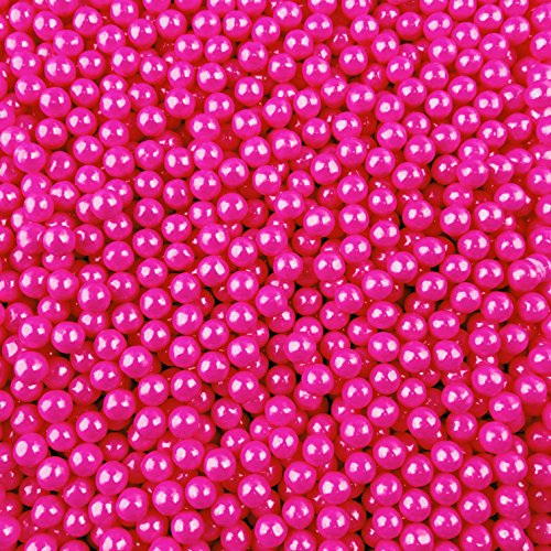 Pink Shimmer Candy Pearls - 2 Pound Bags - Includes How to Build a Candy Buffet Guide - Delicious Toppings on Desserts or Fillers for Candy Tables