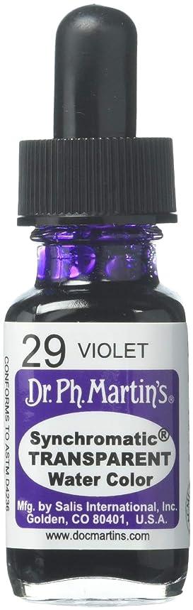 Dr. Ph. Martin's Synchromatic Transparent Water Color (29) Watercolor Bottle, 0.5 oz, Violet, 1 Bottle