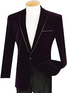 067389bf3c1 VINCI Men s Velvet 1 Button Classic-Fit Sport Jacket Blazer w Black Trim New