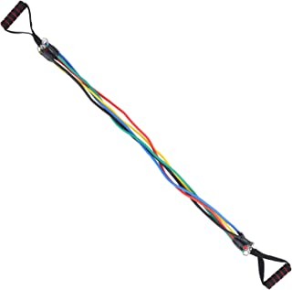 11Pcs Strength Training Fitness Sport Accessory Pulling Rope Set Elastic Stringround Buckle