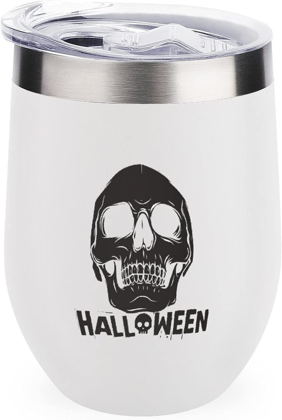 Anyuwerw Max 54% OFF Insulated Wine Tumbler with Tumblers Lid 12o New life Skull