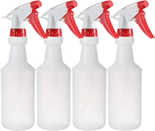 DilaBee Pack of 4-16 Oz Empty Plastic Spray Bottles – Plastic Spray Bottle for Cleaning Solutions - Mist Stream and Off Trigger Settings – Comes with Labels - Great for Home,Garden,Chemical