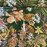 Textile Station Stoff mit Frühlingsblumen-Druck, weicher