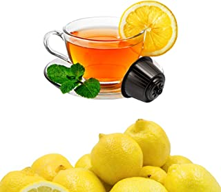 KICKKICK Capsules Te au citron soluble compatibles Nescafe Dolce Gusto – The in dosettes (96 capsules)