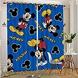 STTYE Cortina extralarga de Mickey Minnie Mouse con 2 cortinas opacas para ventana, 140 x 250 cm x 2 unidades