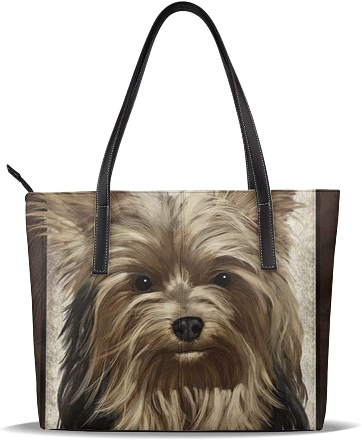 Yorkshire Terrier Brownteacup Dog Genuine Cute Patter Leather Printed depot Pu