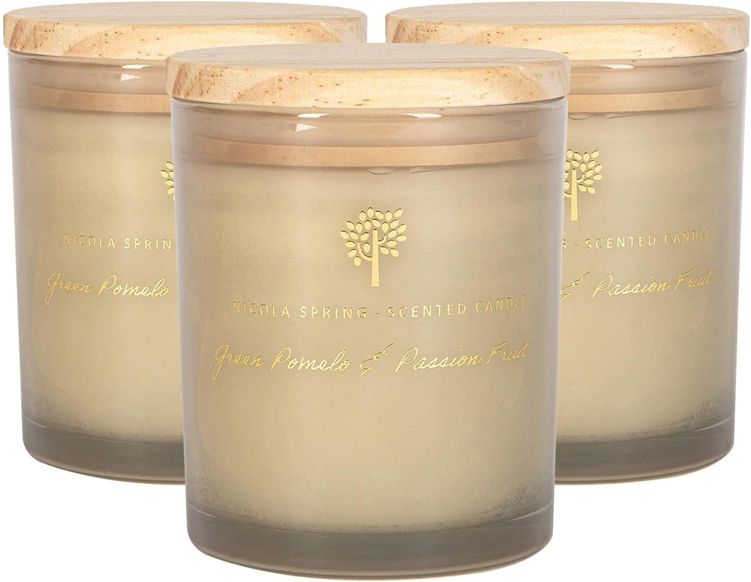Nicola Spring Soy Wax Scented High quality new Cheap mail order specialty store - Glass Gift Candles Aromatherapy