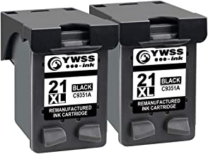 YWSS Remanufacturado Cartucho de Tinta para HP 21XL HP 21 Alto Rendimiento Cartucho de Tinta (2 Negro) C9351A para HP Deskjet 3940 D1530 F2280 D2360 D2460 D1460