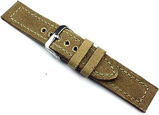 Bracelet Montre Cuir Veau Grain Croco 16 mm Bleu Marine Boucle Couleur Or Neuf!!