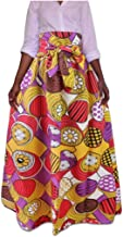 Losait Women Ethnic Style African Traditional Printed Dashiki Mini Skirts