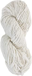 Muezart Hand Spun Yarn for Knitting Weaving, and Crocheting | DK | undyed Eri Silk 90g | Single Ply