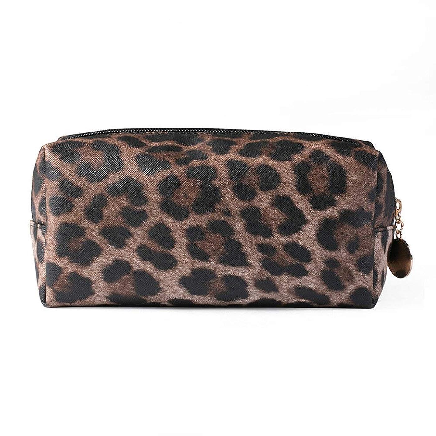 ハロウィンやさしく権限を与えるDARLE HOME Leopardのトラベルコスメティックバッグ女性ファッション多機能化粧ポーチトイレタリー