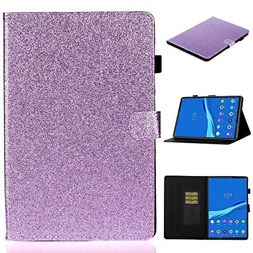 MCDC AYDD para Lenovo Tab M10 Plus TB-X606F Funda de Cuero Horizontal Flip Horizontal Funda con Soporte y Ranura para Tarjeta y función de Despierta (Color : Purple)