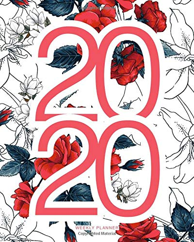 2020 Weekly Planner: Red Flowery Daily Agenda, Calendar...