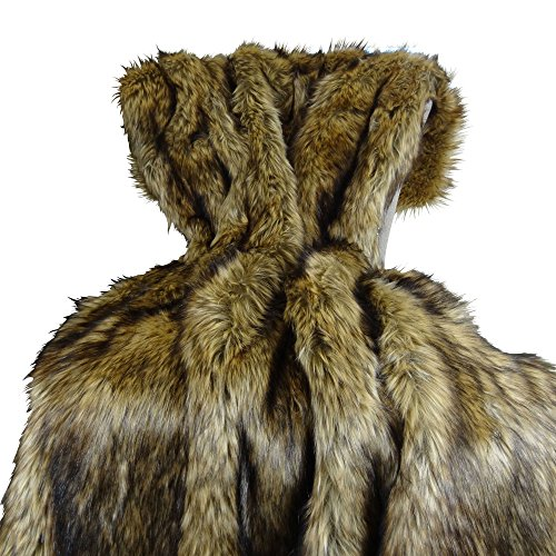 Learn More About Thomas Collection Brown Fur Throw Blanket and Bedspread - Brown Wolf Faux Fur - Lig...