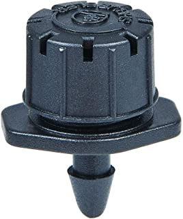 One Stop Outdoor (100-PACK) Professional Grade: 0-10 GPH 360 Degree Adjustable Dripper - Barbed Connection - Drip Irrigation Emitter Sprinklers (Barbed Emitter)