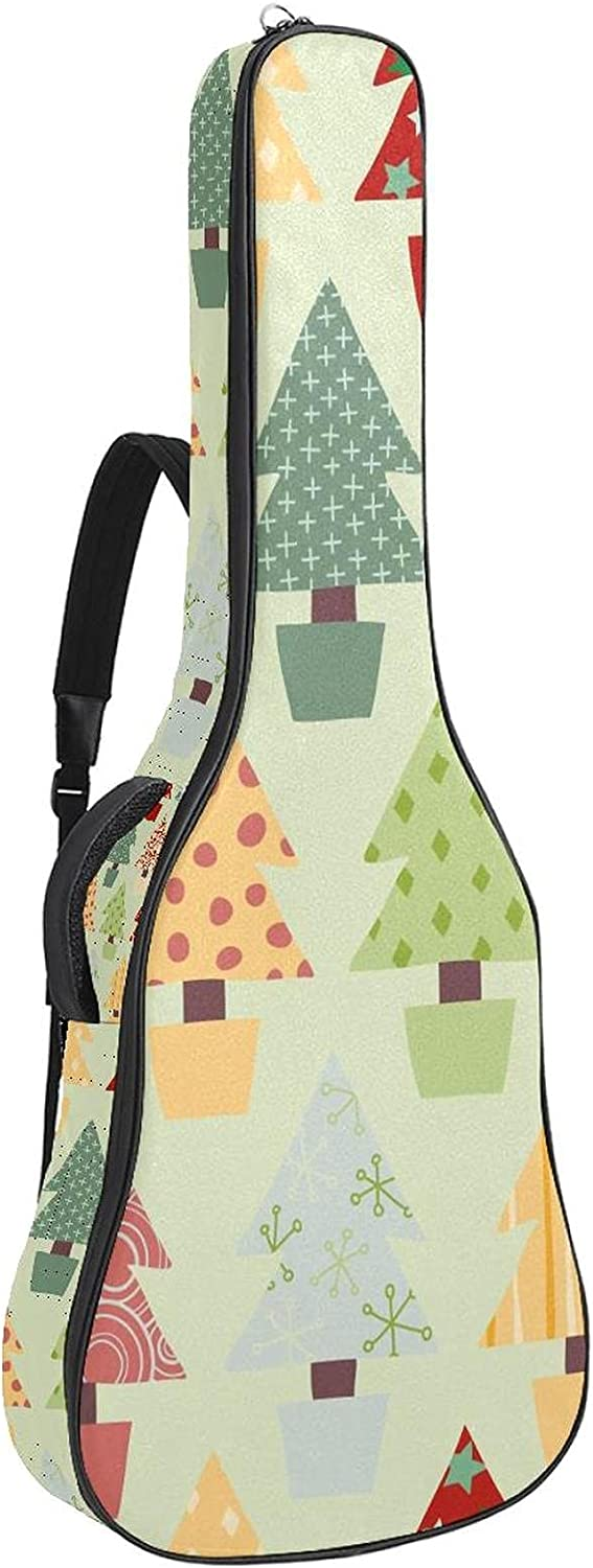 Finally popular brand Acoustic Purchase Guitar Bag Abstract Christmas Tree Shoulder Adjustable