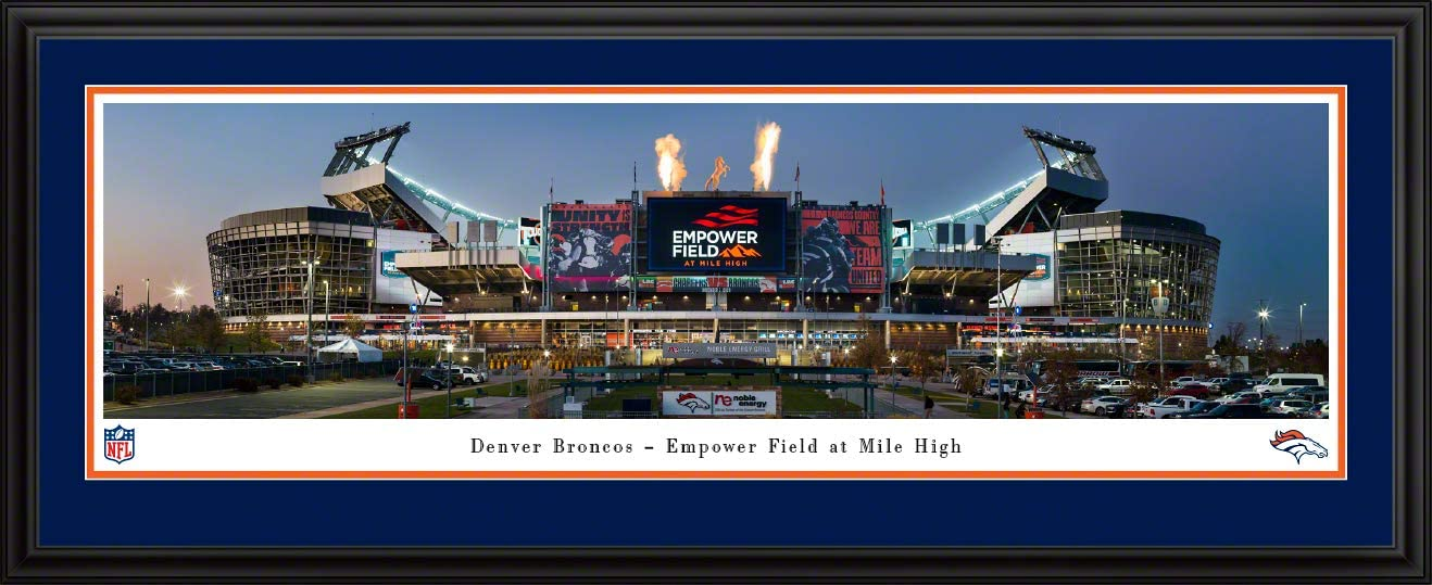 Home of The Denver Broncos Panoramic Posters and Framed Pictures by Blakeway Panoramas Empower Field