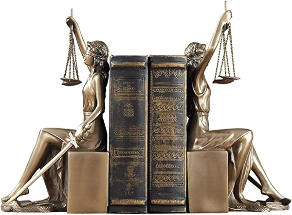 SDBRKYH Greek Goddess Sculpture Justice Bookends Justice Goddess Bookend Library Decoration Library Decoration Book Decoration Office Decoration