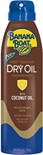 Banana Boat UltraMist Deep Tanning Dry Oil Continuous Clear Spray SPF 4 Sunscreen, 6 oz