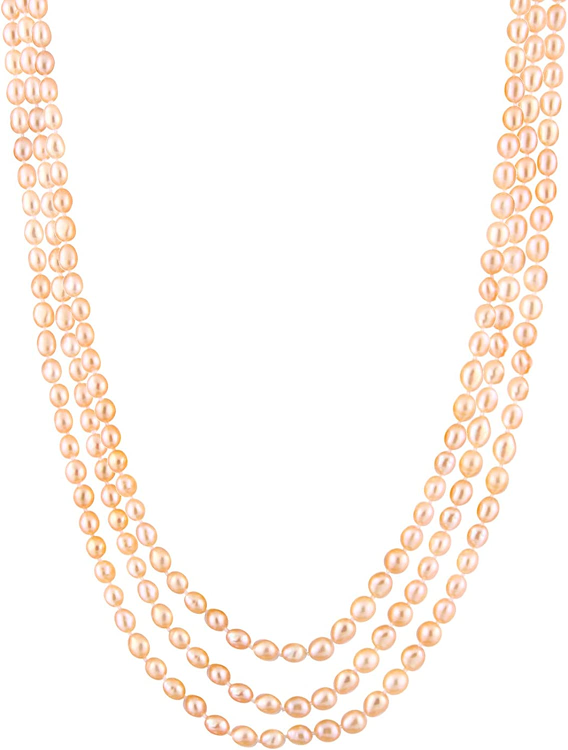 Handpicked A Quality Pink Freshwater Cultured Pearl Strand Endless 64