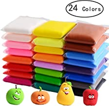 24 Colors Air Dry Clay,DIY Creative Modeling Clay,Light DIY Clay with Tools for Art Crafts,Best Gift for Kids