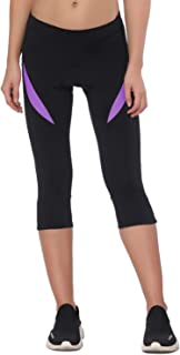 Santic Cycling Shorts Women Padded Bike Bicycle Biking Capris Pants Tight Breathable & Quick Dry