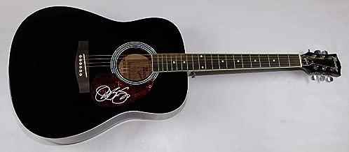 Jon Bon Jovi Slippery When Wet Signed Autographed Full Size Black Acoustic Guitar Loa