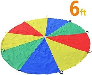 Sonyabecca Juego de paracaídas con 9 Mangos