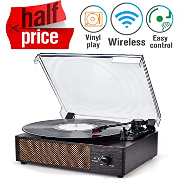 Record Player Turntable Wireless Portable LP Phonograph with Built in Stereo Speakers 3-Speed Belt-Drive Turntable Vinyl Record Player with Speakers