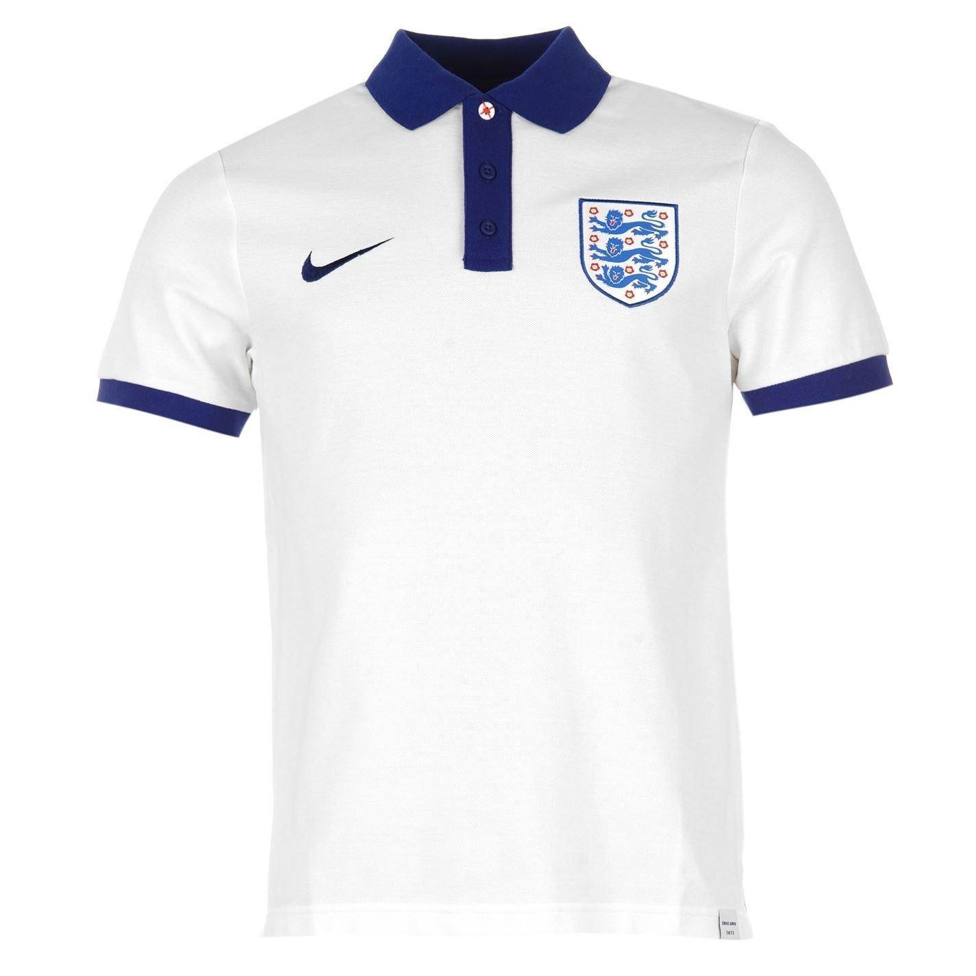 Nike England – Polo para hombre, color blanco/royal de fútbol ...