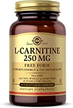 Solgar L-Carnitine 250 mg, 90 Vegetable Capsules - Supports Energy & Fat Metabolism - Non-GMO, Vegan, Gluten Free, Dairy F...