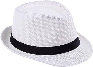ca7f92f9591 HOT Sale! Men Straw Fedora cap Trilby Chapeu Beach sun hat sombrero cowboy  Sunhat Bucket