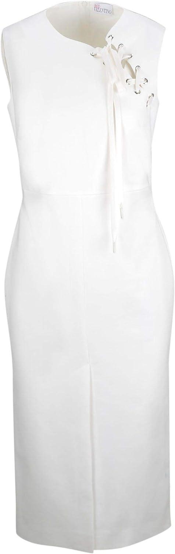Red Valentino Women's RR0VAD300VL031 White Polyester Dress