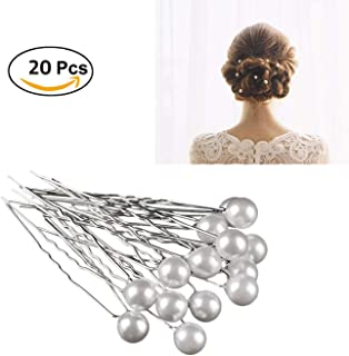 547a2c4006 20PCS Fashion Bridal Wedding Prom White Pearl Silver Hair Pins Clips  Barrette Hairpins Hair Style Accessories