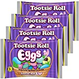 Tootsie Roll Easter Eggs Candy | Individually Wrapped - 4 Bag of 3.5 oz. | Easter Hunt, Easter Basket Stuffer & Filler, Easter Party Decor (4-Pack)