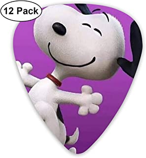 LIUYAN Happy Snoopy Guitar Picks Customized Fashion 12 Pack Picks for Musical Instruments
