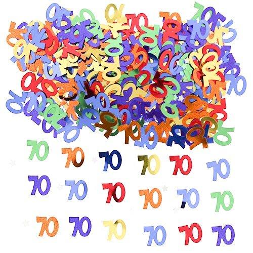 amscan Confettis de Table Age (Sachet de 14 grs) - 70 Ans
