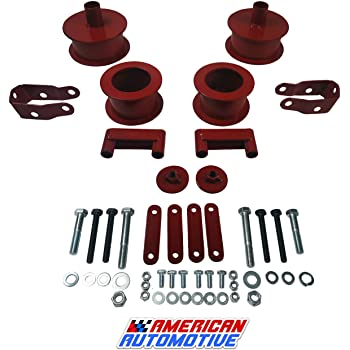 KSP 3Front and 3Rear Full Suspension Lift Kits with Shock Extenders fit for 2007-2018 Jeep Wrangler JK 2WD 4WD, Such as Editions Rubicon//Unlimited//Sahara//Sports and More(Black